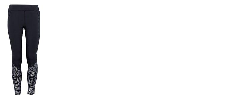 Lämpimät trikoot kylmien vuodenaikojen treeneihin. Lahkeiden alaosassa heijastava  painatus 3772ad3f35